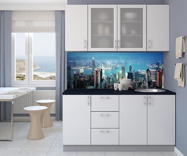 Panel szklany z panoramą Hong Kongu