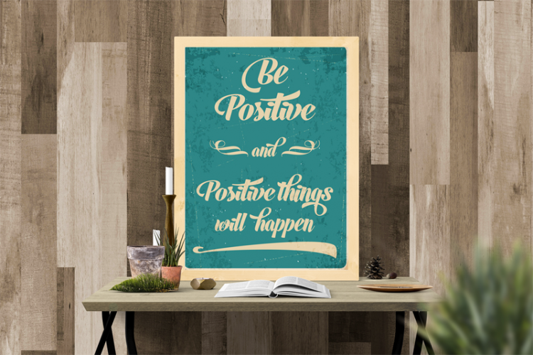 Inspiracje Modny Typograficzny Plakat Z Pozytywnym Przesłaniem